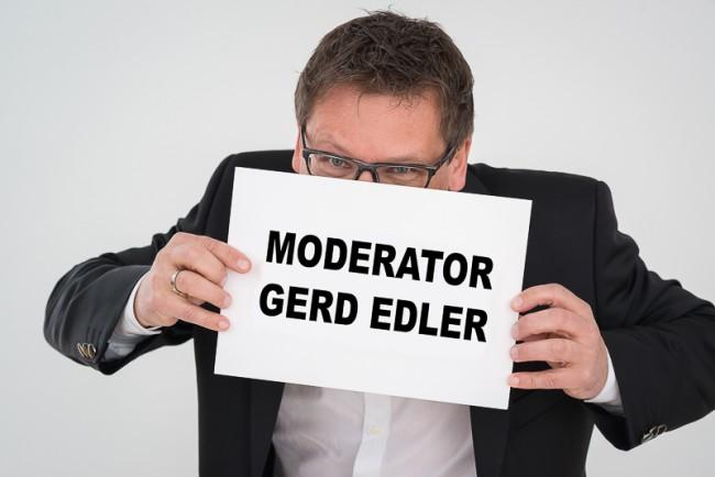 Moderator Gerd Edler