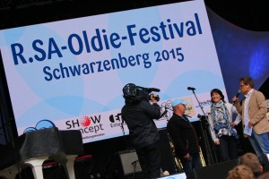 Moderator Gerd Edler R.SA Oldie Festival 2015