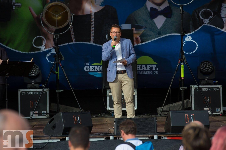 Event Moderator Gerd Edler beim Bergstadtfest Freiberg gerdedler.de